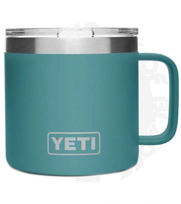 YETI Rambler 14 oz. YRAM14RG River Green mug
